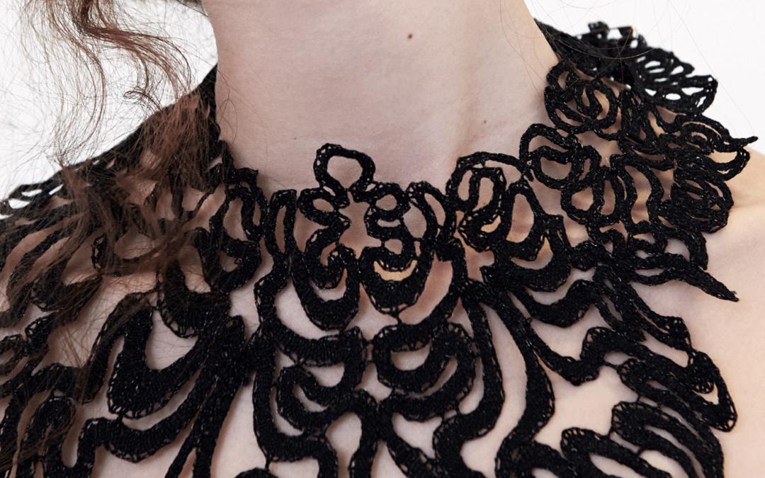 SavoarFer: melting collar n°1 bobbin lace